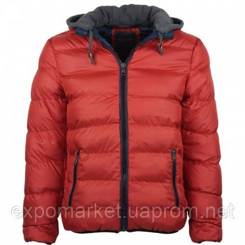 Куртка зимняя мужская с трикотажным капюшоном