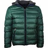 Куртка зимняя мужская с трикотажным капюшоном, фото 3