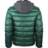 Куртка зимняя мужская с трикотажным капюшоном, фото 5