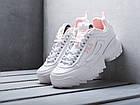 Женские кроссовки Fila Disruptor 2 White/Flamingo Pink (Фила Дисраптор 2) белые, фото 2