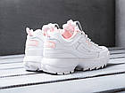 Женские кроссовки Fila Disruptor 2 White/Flamingo Pink (Фила Дисраптор 2) белые, фото 4