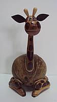 Статуэтка-копилка деревянная жираф высота 28 см