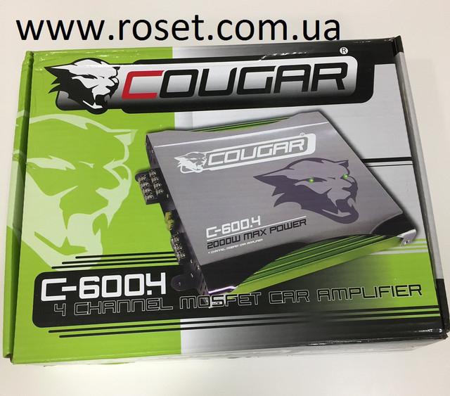 Автомобильный усилитель мощности звука Cougar CAR AMP 600.4