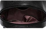Модный рюкзак женский городской. Рюкзак для девочки с навесным замочком и заклепками (красный), фото 10