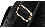 Модный рюкзак женский городской. Рюкзак для девочки с навесным замочком и заклепками (красный), фото 9