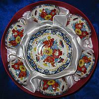 Сервиз 6 персон фарфор Цветы