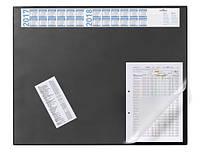Настольное покрытие черное с прозрачным клапаном  DURABLE 7204 01