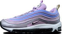 Женские спортивные кроссовки Nike Air Max 97 Silver/Pink/Blue (Найк Аир Макс 97) в стиле серебристые