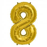 Шарик Цифра золото (80см) 8