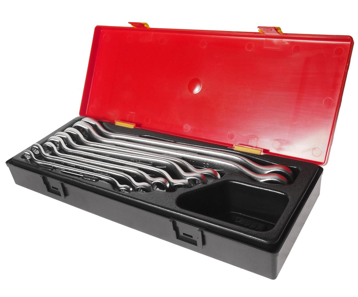 Набор накидных ключей угол изгиба 45гр. 8ед. (ЕВРО ТИП) (K6082 JTC)