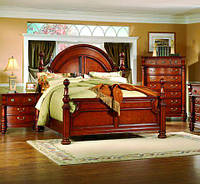 Деревянная кровать в английском стиле