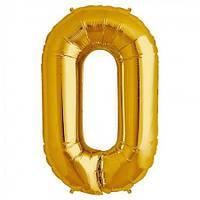 Шарик Цифра золото (80см) 0