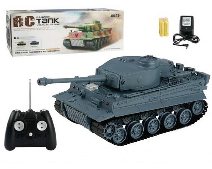 Боевой танк на радиуправлении 3828А+световые и звуковые эффекты Игрушка танк Подарок мальчишке Военная техника