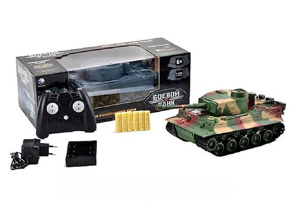 Боевой танк на радиуправлении 3828А+световые и звуковые эффекты Игрушка танк Подарок мальчишке Военная техника, фото 2