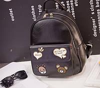 Рюкзак с милыми мишками и сердечками