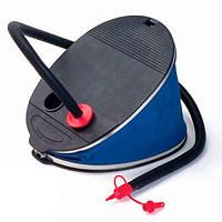 Механический ножной насос Intex 30 см. (Интекс), насос для надувных изделий, 3 насадки, мощность 5 л, синий.