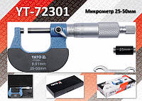 Микрометр Ra-25...50мм, деление-0.01мм., YATO YT-72301
