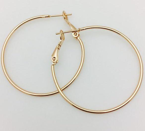 Серьги кольца Fallon 35 мм, позолота 18К