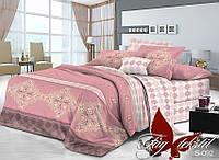Комплект постельного белья с компаньоном S-092 семейный (TAG satin-092/с)