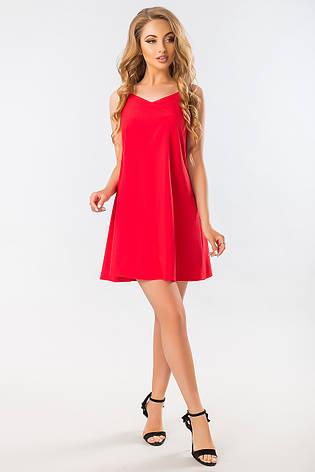 3730e2ca3db Летнее красное платье-сарафан с бантом на спине на бретелях - купить ...