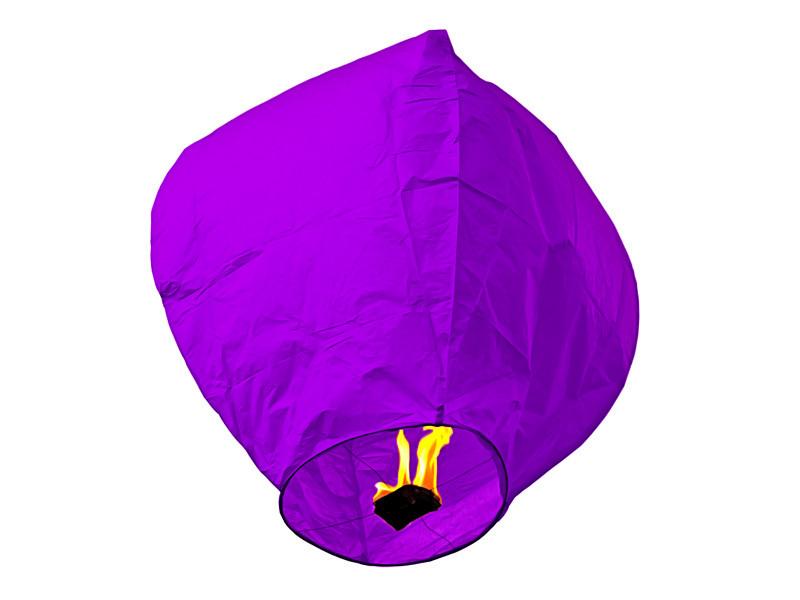 Небесный фонарик купол фиолетовый 90см большой