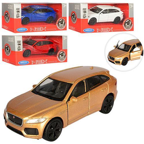 Машинка 43726CW JAGUAR F-Pace металева, інерційна, 11,5см, двері відкриваються, 4 кольори, в коробці, 15-7-7см