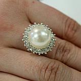 Кольцо с камешками под жемчуг, фото 2