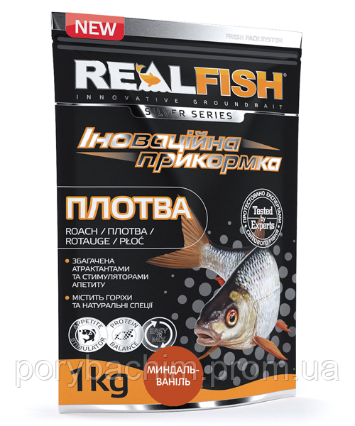 "Рыболовная прикормка RealFish ""ПЛОТВА"" Миндаль-Ваниль"