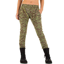 Женские джинсы бойфренды в армейском стиле Mozzaar (Европа) Хаки