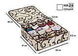 Коробочка на 24 секции c крышкой Молочный Шоколад, фото 6