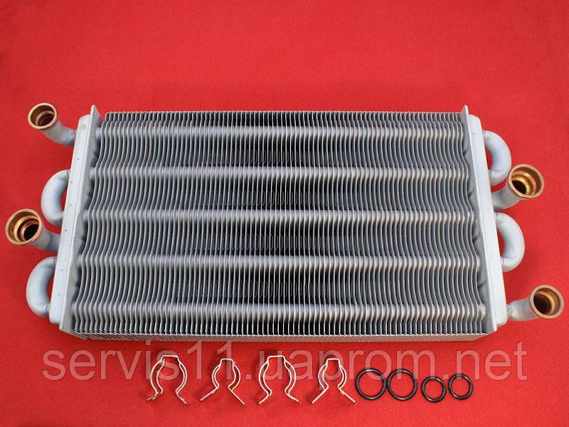 Сдвоенный теплообменник для газового котла Пластины теплообменника КС 21 Камышин