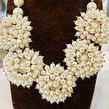 Нарядное ожерелье цвета шампань, фото 2