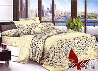 Комплект постельного белья с компаньоном S-146 семейный (TAG satin (sem)-146)