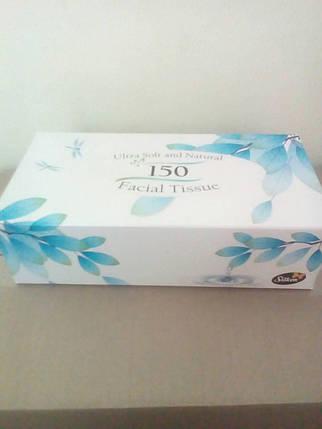 """Silken 2-сл. у коробці """"Natural"""" блакитна 150шт , фото 2"""