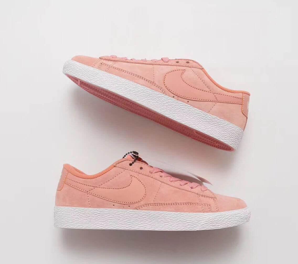 3bd72bb8 ... Кроссовки женские Nike Blazer Low Surfaces Light Lavender Leather (Найк  Блейзер, реплика), ...