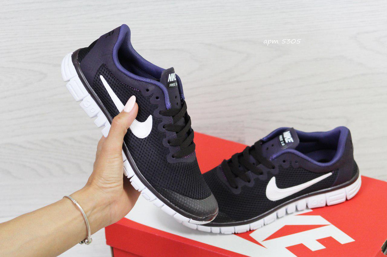6c180ad9 Кроссовки в стиле Nike Free 3.0 (темно фиолетовые) летние кроссовки найк  nike 5305 -