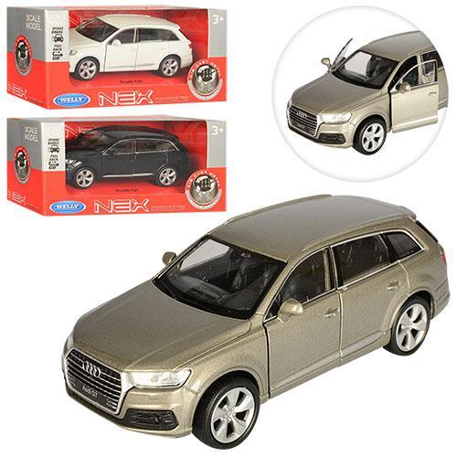 Машинка 43706CW Audi Q7 метаева, інерційна, 11,5см, резинові колеса, в коробці