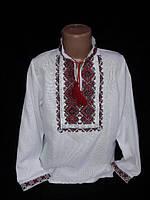 Мальчуковая вышитая рубашка на домотканном полотне, рост 152-170 см, фото 1