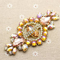 Хрустальный декор 12х6см (цвет Peach AB) 1 шт