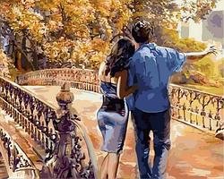 Рисование по номерам DIY Babylon Романтическая осень (VP733) 40 х 50 см