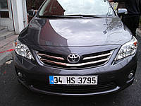 Toyota Corolla Накладки на решетку радиатора (нерж.)