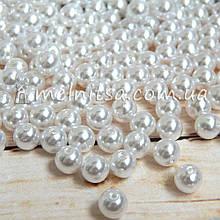 Перламутрові намистини під перли 8 мм, білі (50 шт)