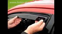 Дефлектора окон Heko AUDI Q3, 2011-, 4ч., темный
