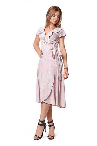 Летнее романтичное платье миди с рюшами , фото 2
