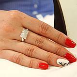 Кольцо с цирконами, фото 3