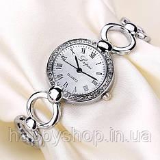 Женские кварцевые часы-браслет Lupai (Серебристые)