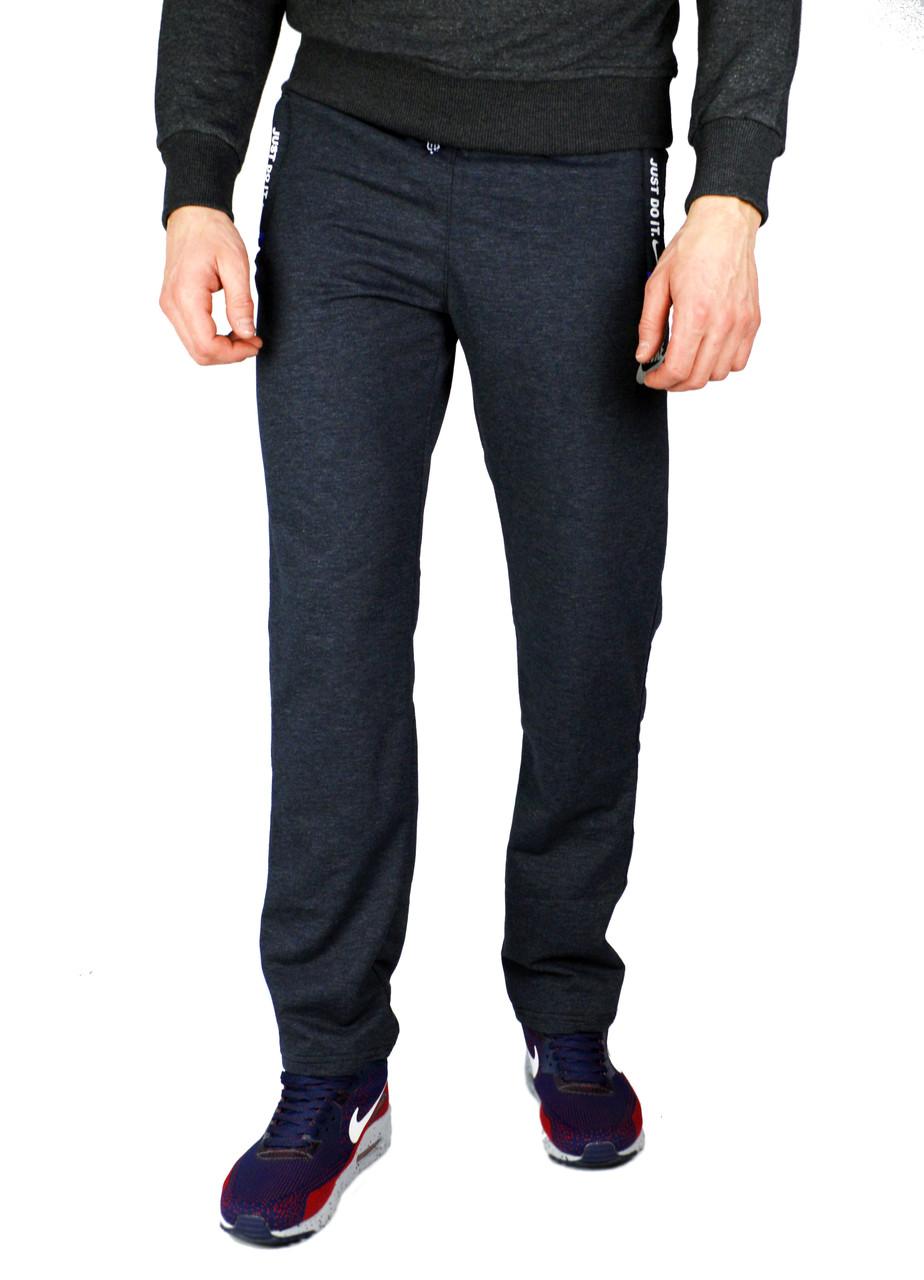 Серые мужские спортивные трикотажные штаны NIKE