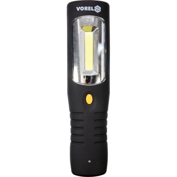 Ліхтар світлодіодний 3 Вт акумуляторний Li-Ion 3.7 В з боковою підсвіткою для майстерень (82719 Vorel)