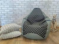 Кресло мешок Exclusive, кресло Груша, бескаркасный пуф,  Оксфорд, бескаркасная мебель Loft ХЛ 105*85 см