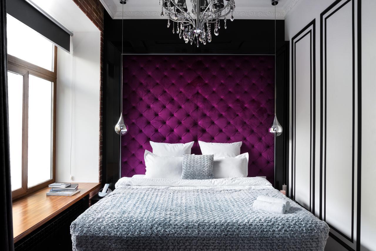 Панель стеновая капитоне, изголовье и кровать